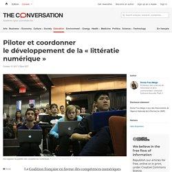 Piloter et coordonner ledéveloppement dela«littératie numérique»