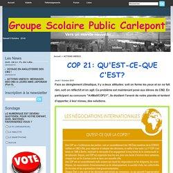 COP 21: QU'EST-CE-QUE C'EST?