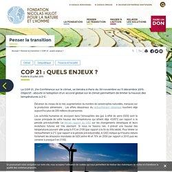 COP 21 : quels enjeux ?