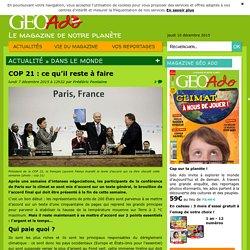 COP 21 : ce qu'il reste à faire