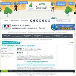 COP 21 - J7 - La transition énergétique