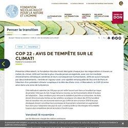 COP 22 : Avis de tempête sur le climat!