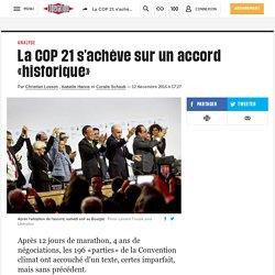 La COP 21 s'achève sur un accord «historique»