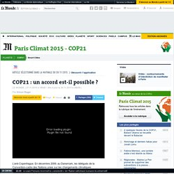 COP21 : un accord est-il possible ?