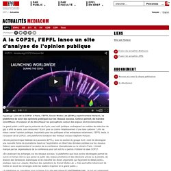 A la COP21, l'EPFL lance un site d'analyse de l'opinion publique