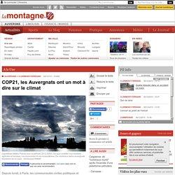 COP21, les Auvergnats ont un mot à dire sur le climat