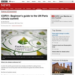 COP21: Beginner's guide to the UN Paris climate summit