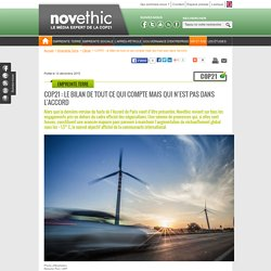COP21 : le bilan de tout ce qui compte mais qui n'est pas dans l'accord