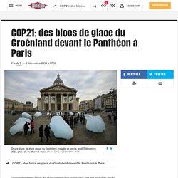 COP21: des blocs de glace du Groënland devant le Panthéon à Paris