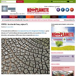 COP21 : la crise de l'eau, enjeu n°1
