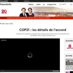 COP21 : les détails de l'accord