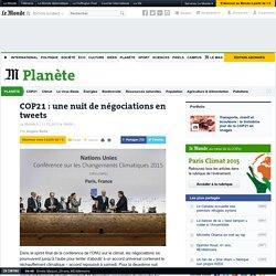 12/11/15 COP21: une nuit de négociations en tweets