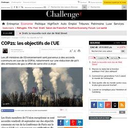 COP21: les objectifs de l'UE
