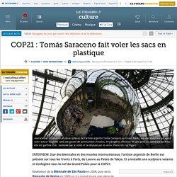 COP21 : Tomás Saraceno fait voler les sacs en plastique