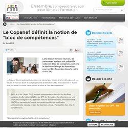 """Le Copanef définit la notion de """"bloc de compétences"""""""