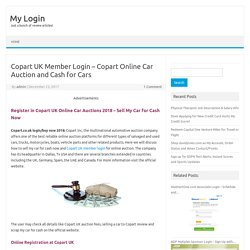 Copart UK Member Login - Copart Online Car Auction and Cash for Cars