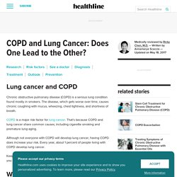COPD and Lung Cancer: Am I At Risk?