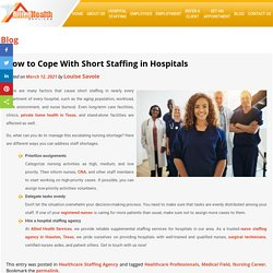 How to Cope With Short Staffing in Hospitals