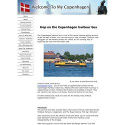 The Copenhagen Harbour Bus - Transportation With A Water View