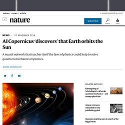 AI Copernicus 'discovers' that Earth orbits the Sun