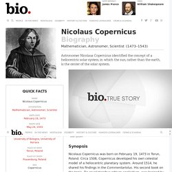 Nicolaus Copernicus - Biography - Mathematician, Astronomer, Scientist - Biography.com