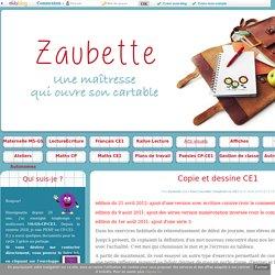 Copie et dessine CE1 - Zaubette
