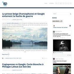 Damien Van Achter, Since 1977 (et des brouettes) » Articles avec le tag » Copiepresse