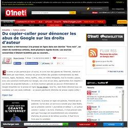 Du copier-coller pour dénoncer les abus de Google sur les droits d'auteurs