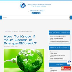 How To Know If Your Copier is Energy-Efficient?