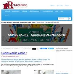 COPIES CACHE - CACHE et RALLYES COPIE