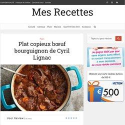 Plat copieux bœuf bourguignon de Cyril Lignac
