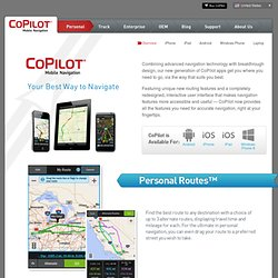 CoPilot Live - Your Best way to Navigate