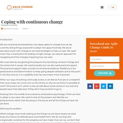 Coping with continuous change