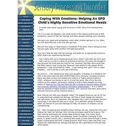Coping With Emotions In SPD
