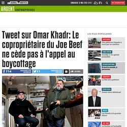 Tweet sur Omar Khadr: Le copropriétaire du Joe Beef ne cède pas à l'appel au boycottage
