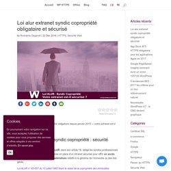 Loi Alur Extranet syndic Copropriété HTTPS