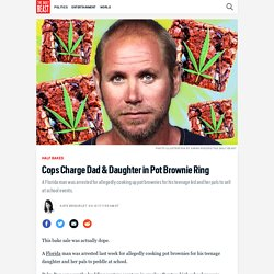 Cops Charge Dad & Daughter in Pot Brownie Ring