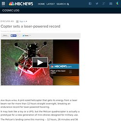 Copter sets a laser-powered record