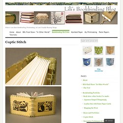 Coptic Stitch « Lili's Bookbinding Blog