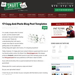 17 Copy-And-Paste Blog Post Templates