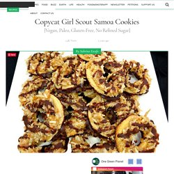 Copycat Girl Scout Samoa Cookies [Vegan, Paleo, Gluten-Free, No Refined Sugar]