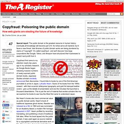Copyfraud: Poisoning the public domain
