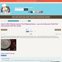 Jason's Deli Fruit Dip | CopyKat Recipes | Copycat Recipes | Restaurant Recipes