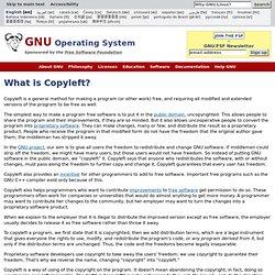 Qu'est-ce que le copyleft? - Projet GNU