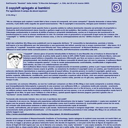 Il copyleft spiegato ai bambini - di Wu Ming 1