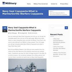 Navy Seal Copypasta-What is Marine/Gorilla Warfare Copypasta