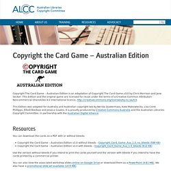 Copyright the Card Game – Australian Edition