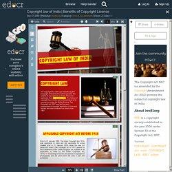 Benefits of Copyright License - IRRO