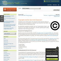 » Copyright and Fair Use in the Classroom Freedom to Teach