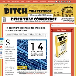 14 copyright essentials teachers and students must know